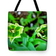 Florescent Green In Stereo Tote Bag