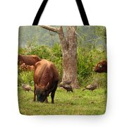 Florida Cracker Cows And Osceola Turkeys #2 Tote Bag