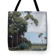 Florida Cypress With Birds Tote Bag