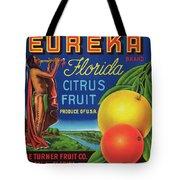 Florida Eureka Citrus Fruit Crate Label Tote Bag