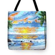 Florida Keys Beach Sunset Tote Bag