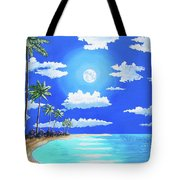 Florida Keys Moon Rise Tote Bag