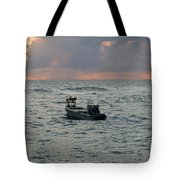 Florida Lobstermen At Dawn Tote Bag