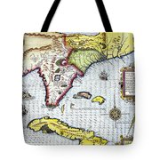 Florida: Map, 1591 Tote Bag