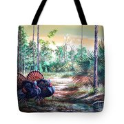 Florida Osceola Turkeys- The Two Kings Tote Bag