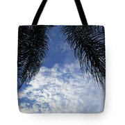 Florida Palm Fronds Blowing In The Breeze Tote Bag