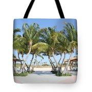 Florida Palms At Beach Tote Bag