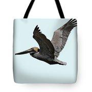Florida Pelican In Flight Tote Bag