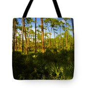 Florida Pine Forest Tote Bag