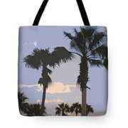Florida Queen Palm Trees   Tote Bag