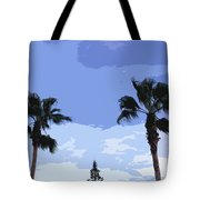 Florida Queen Palms   Tote Bag