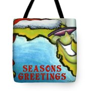 Florida Seasons Greetings Tote Bag