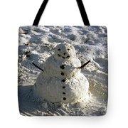 Florida Snowman Tote Bag