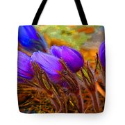 Flourescent Flowers Tote Bag