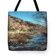 Flow Of The Verde River Tote Bag