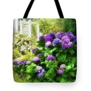 Flower - Hydrangea - Lovely Hydrangea  Tote Bag by Mike Savad