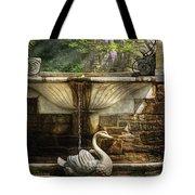 Flower - Wisteria - Fountain Tote Bag