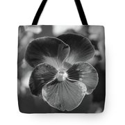 Flower 5 - Black And White Tote Bag