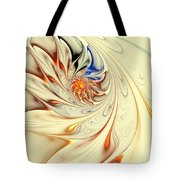 Flower Abstract Light Tote Bag