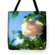 Flower Against The Sky Tote Bag