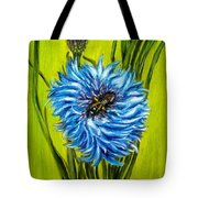 Flower And Bee Oil Painting Tote Bag