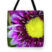 Flower And Droplets Tote Bag