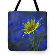 Flower And Flax Tote Bag