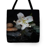 Flower And Stone Tote Bag