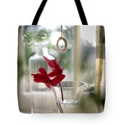 Flower And Window Tote Bag