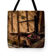 Flower Basket Tote Bag