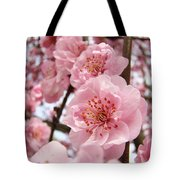 Flower Blossoms Art Spring Trees Pink Blossom Baslee Troutman Tote Bag