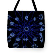 Flower Blue Tote Bag