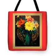 Bouquet For Mrs De Waldt H B With Decorative Ornate Printed Frame. Tote Bag
