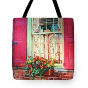 Flower Box  And Pink Shutters Tote Bag