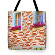 Flower Boxes In Slavonice Tote Bag