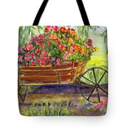 Flower Cart Tote Bag