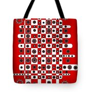 Flower Chess Tote Bag