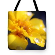 Flower Droplets Tote Bag