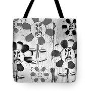 Flower Face B W Tote Bag