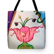 Flower Face Tote Bag
