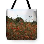 Flower Field In Hama-rikyu Gardens Tote Bag