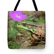 Flower, Frog, Fly Tote Bag