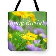 Flower Garden Birthday Card Tote Bag