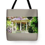 Flower Garden Chair Tote Bag