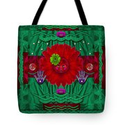 Flower Girl With Sunrose In Her Hair And Pandabears Tote Bag