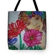 Flower Goddess  Tote Bag