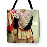 Flower Hmong Girl 04 Tote Bag