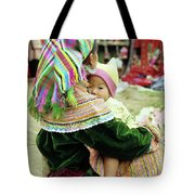 Flower Hmong Mother And Baby 02 Tote Bag
