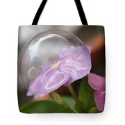 Flower In A Bubble Tote Bag