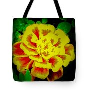Flower In Abstract With Black Background Tote Bag